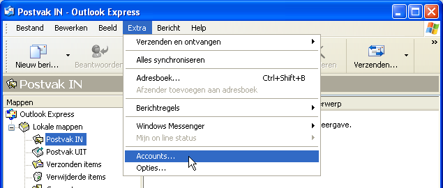 Outlook Express E-mail instellingen